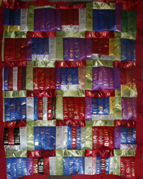 medium ribbon quilt
