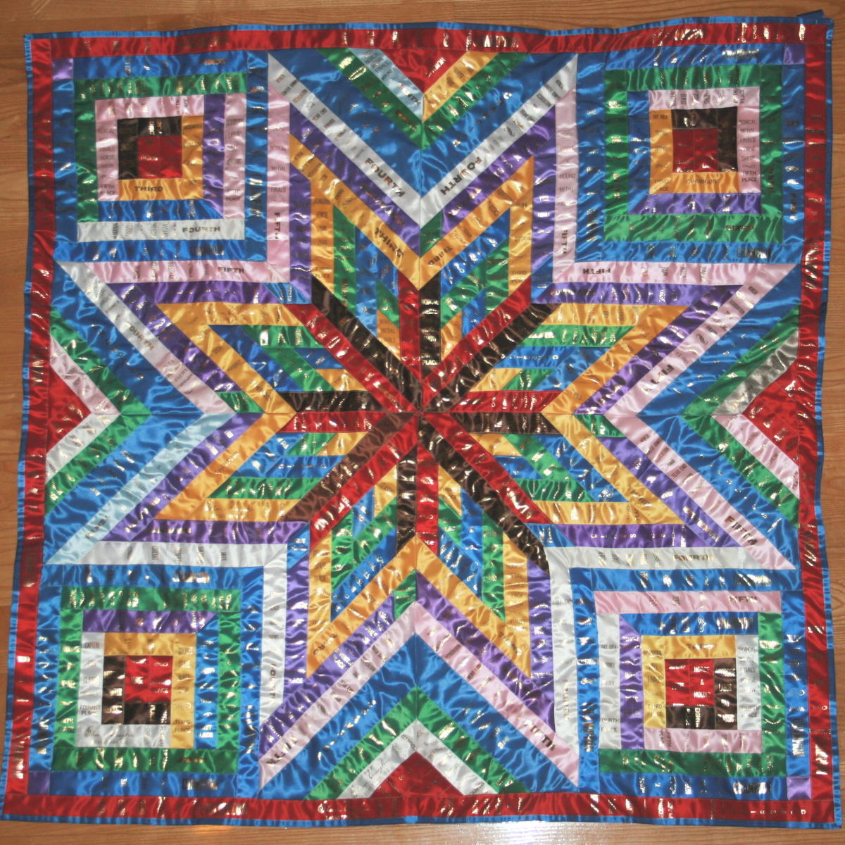large ribbon quilt